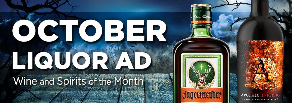 October Liquor Ad