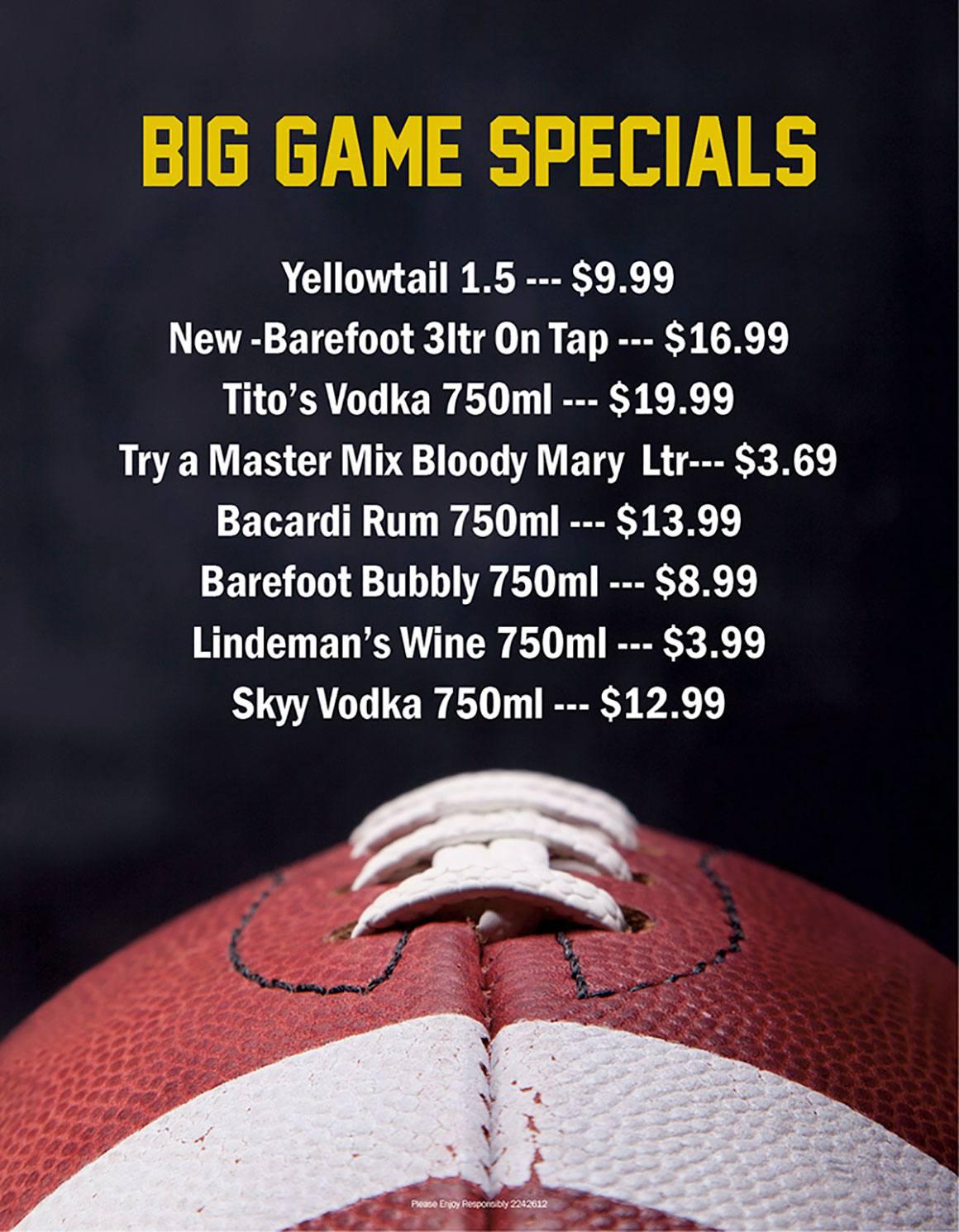 January Liquor Ad