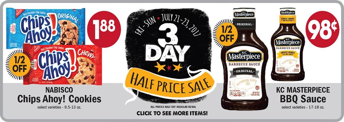 3-Day Half-Price Sale