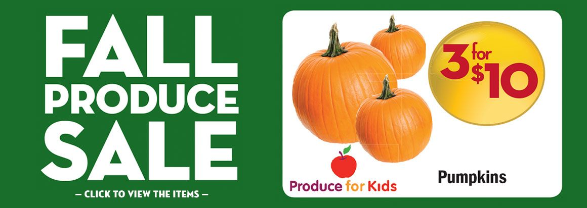 Fall Produce Sale
