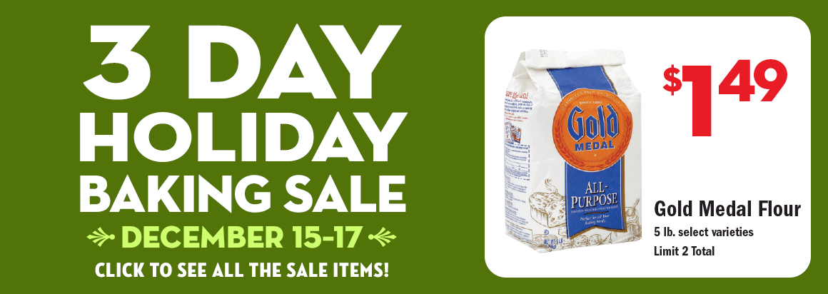 3 Day Holiday Baking Sale