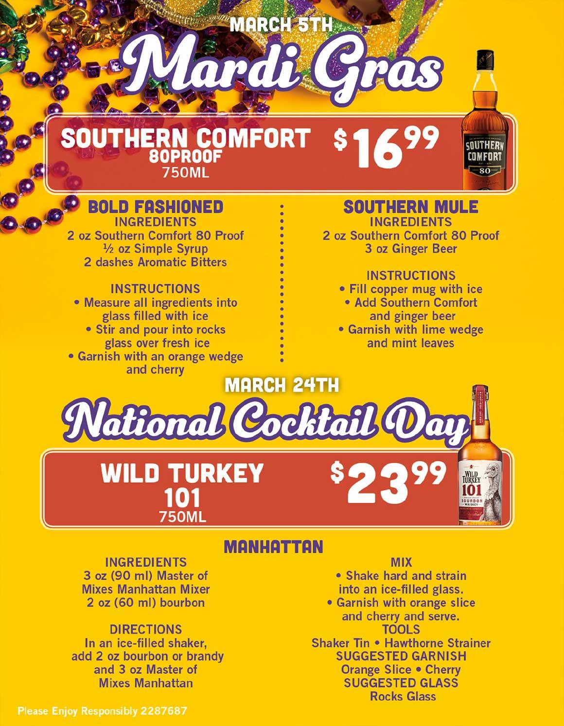 March Liquor Ad