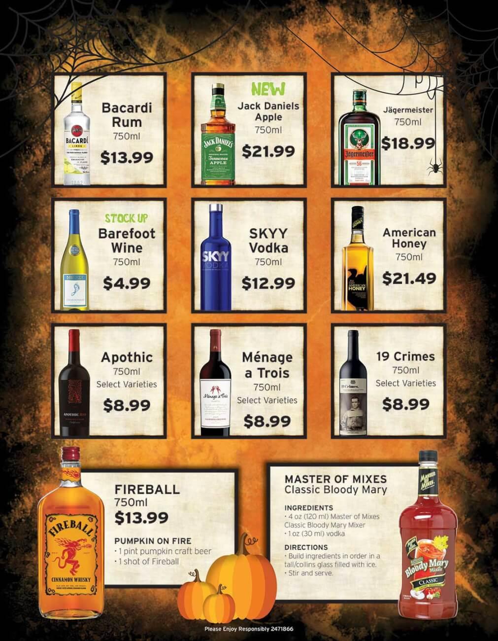 October Liquor Ad